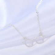 HP Glasses Necklace Silver 2