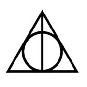 HP Macbook Deathly Hallows sticker