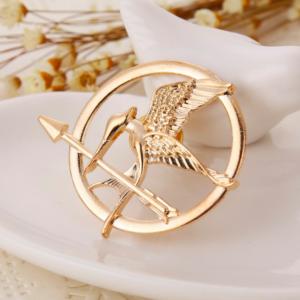 THG Mockingjay Bronze Brooch