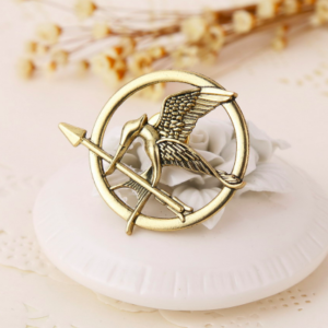 THG Mockingjay Gold Brooch