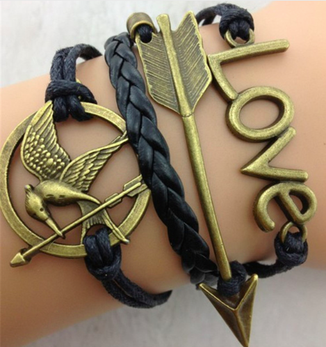 THG Mockingjay Love Arrow Bracelet
